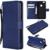 BoxTii Coque Huawei P10 Lite, Etui en Cuir Flip Portefeuille Housse de Protection avec Gratuit Protection D'écran en Verre...