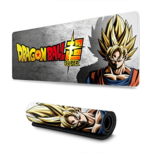 Anime Dragon Ball Z Super DBZ Goku Large Gaming Mouse Pad Extended Mousepad XL Keyboard Mat 11.8in X 31.5in