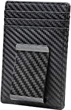 Travelambo Money Clip Front Pocket Wallet Slim Minimalist Wallet RFID Blocking (01 Carbon Fiber Elite)