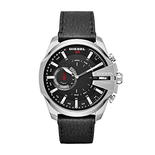 Diesel Herren Analog Quarz Uhr mit Leder Armband DZT1010