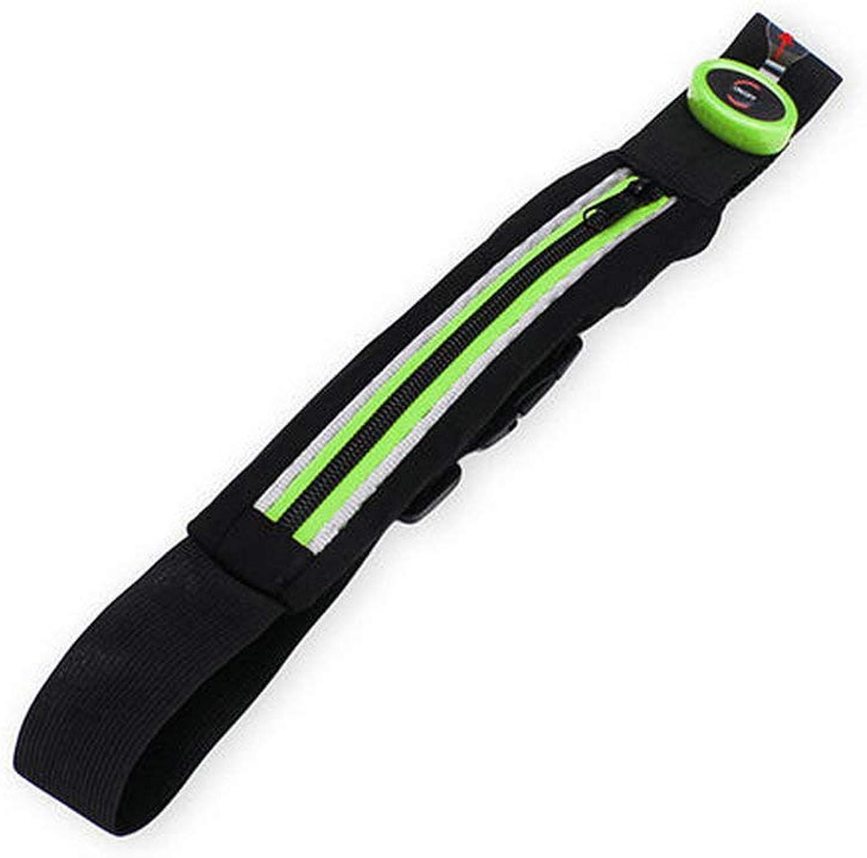 ACHKL Women Men Waist Packs Belt Portable LED Large Capacity Sport Waist Bag ACHKL (color   color Green)