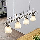 LED Lámpara colgante 'Yannie' en Gris hecho de Metal e.o. para Salón & Comedor (4 llamas, E14) de Lindby | lámpara colgante LED, lámpara colgante LED, lámpara LED, lámpara de techo, lámpara de techo