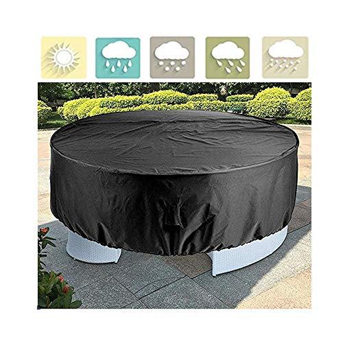 NINGWXQ Garden Furniture Cover ronde eettafel Idle Item Protection zeildoek van Set Dust-proof Milieu, 25 Maten (Color : Black, Size : 240x100cm)