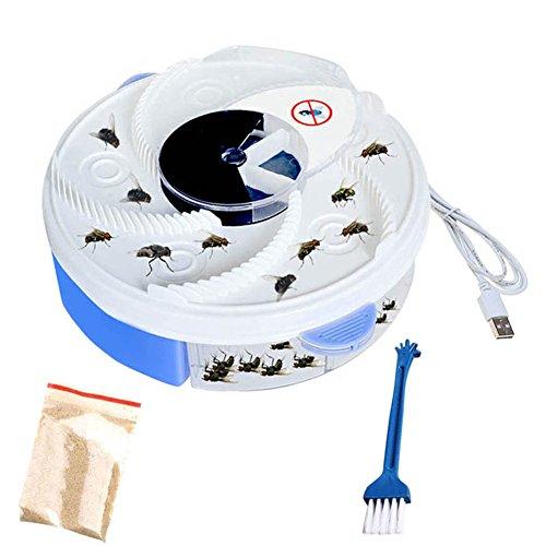 Starall Mosche per insetti mosche Mosche elettriche UV elettrico viola Mosche con moschettone per catturare il cibo Cavo USB per Home Restaurant (blu)