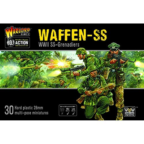 Bolt Action Warlord Games, Waffen SS, Wargaming Miniatures
