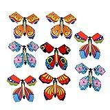 Milisten 8 mariposas voladoras mágicas que vuelan en el libro, para regalo de boda, fiesta, color al azar, estilo 1 talla 2 Estilo de color aleatorio 2