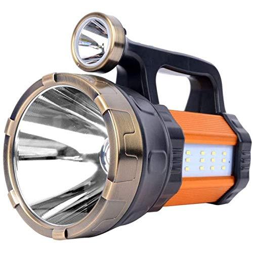 ZHANG Reflector Táctico Antorcha de Largo Alcance 1000M, Linterna de Batería 10000Mah, Luz de Flash de Búsqueda, Proyector Portátil