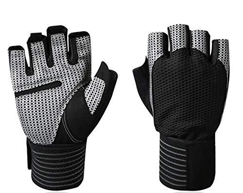 Men Women Sports Gloves Half Finger Anti-Slip Wearproof Breathable Cycling Climbing Fitness Outdoors Gloves