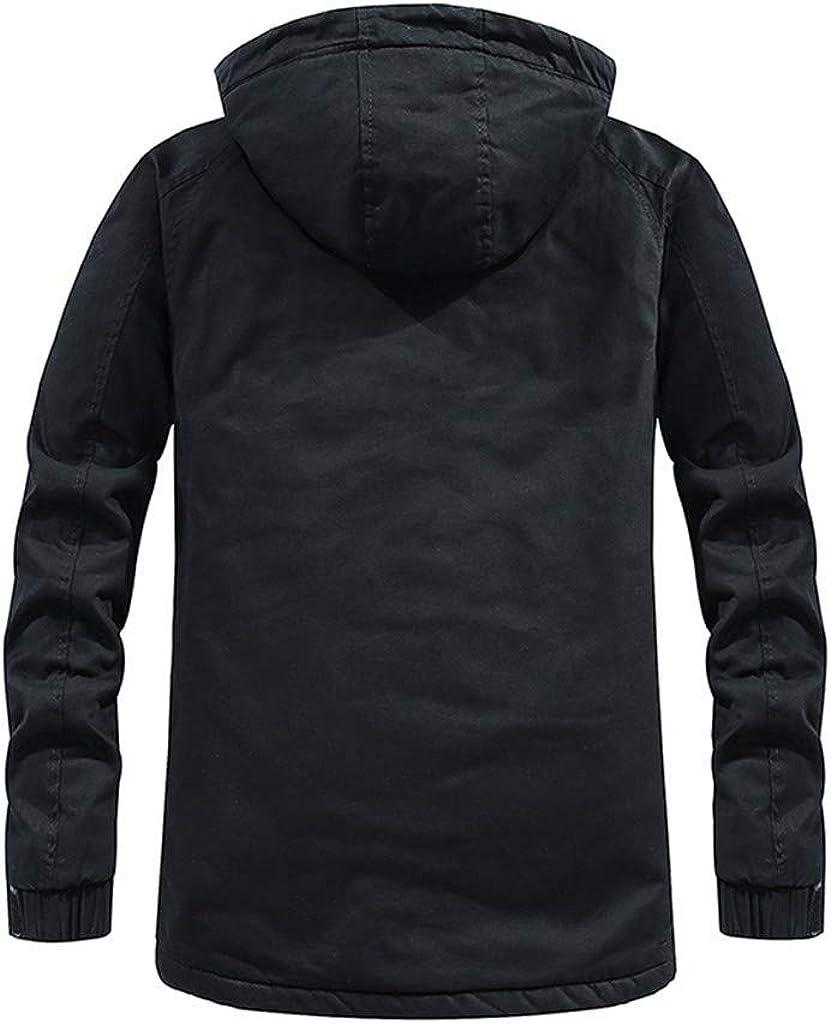 Men's Winter Coat Windproof Lightweight Warm Soft Outwear Zipper Jacket