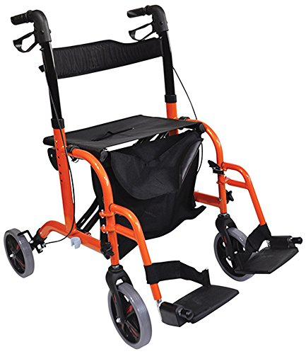 Aidapt Rollator mit 2 Funktionen, Orange