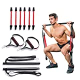 Upneargo Portable Home Gym Pilates Bar System,Full Body Workout Equipment for Home, Office or Travel,Weightlifting and HIIT Interval Training Kit