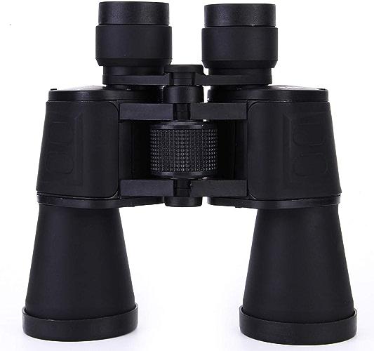 Hhrong 20 X 50 Jumelles Adulte, BAK4 Prism Objectif FMC Jumelles HD Observation des Oiseaux Jeu de Sport Anti-buée étanche Alpinisme Voyage Jumelles de Voyage (Couleur   noir 20X50)