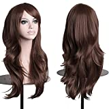 Pelucas largas de la cabeza llena de las mujeres de la moda 23'Gran vestido de fantasía de la peluca de la peluca de cosplay sintética del cabello ondulado grande (marrón oscuro) chenghuax
