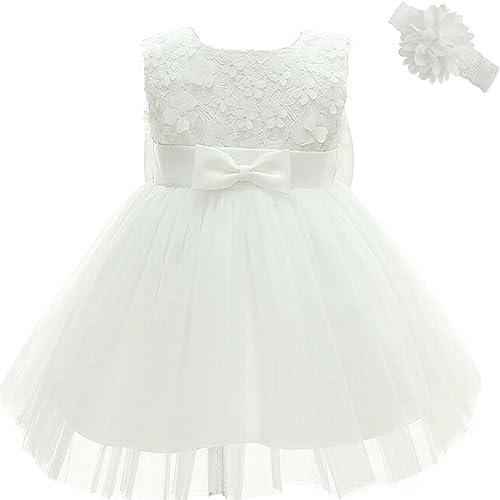 Vestidos de Bautizo de la Niña Vestido de la Flor del Bordado del Cordón de la Boda de la Princesa Vestido del Bautismo del Cumpleaños para la Niña