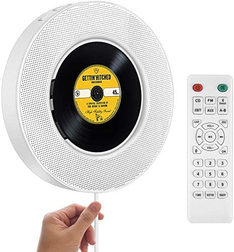 2021 Upgraded Portable CD Player with Bluetooth FM Radio Wall Mountable CD Music Player with product image