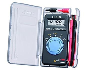 Hioki 3244-60 Card HiTester and Digital Multimeter 41.99 Megaohms Resistance 500V AC/DC Voltage