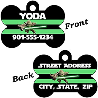 uDesignUSA Disney Star Wars 2-Sided Pet Id Dog Tag Personalized for Your Pet