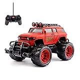 Coche Teledirigido RC Desert Cross Country Truck 1:20 2WD | Coche Radiocontrol Todoterreno a Bateria con Mando Control Remoto | Juguete Regalo para Niños, Rojo