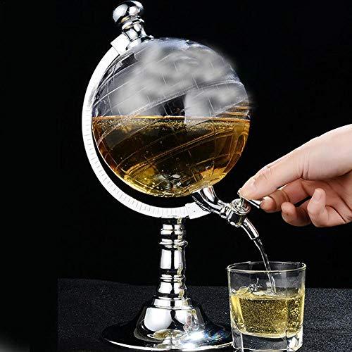 lembrd Whiskykaraf Globus, 1,5L Whisky-karaf set, Globe Dispenser antiek glas sterke drank wijndispenser Western restaurant bar rekwisieten