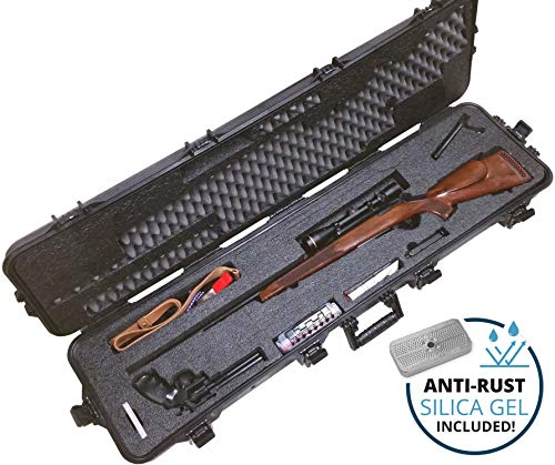 Case Club Pre-Cut Hunting Rifle Waterproof Case with Accessory Box and Silica Gel to Help Prevent Gun Rust