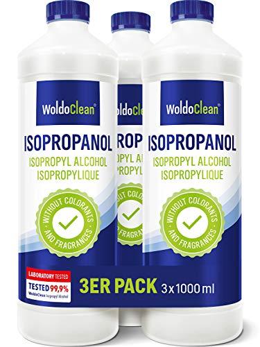 Isopropanol Alkohol 99,9{ea1263c1b699be29ee6d50608f6dad671fd2046179dc59439fd92882de8a3d2e} 3x 1.000ml - Lösungsmittel und Reiniger