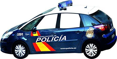 Photocall Coche Policia Nacional Eventos o Celebraciones puntuales| Medidas 3,00 mx1,55m | Ventana Troquelada | Photocall Divertido |Atrezzos|