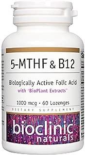 Bioclinic Naturals 5-MTHF & B12 Biologically Active Folic Acid - 60 Lozenges