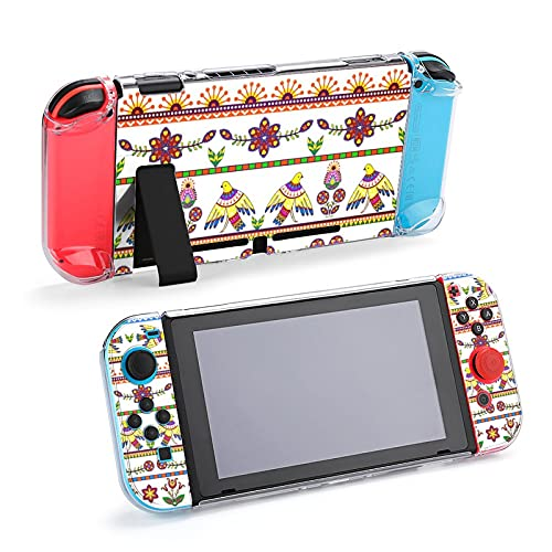 Funda protectora para Nintendo Switch, diseño de pájaros y flores floralDurable funda...
