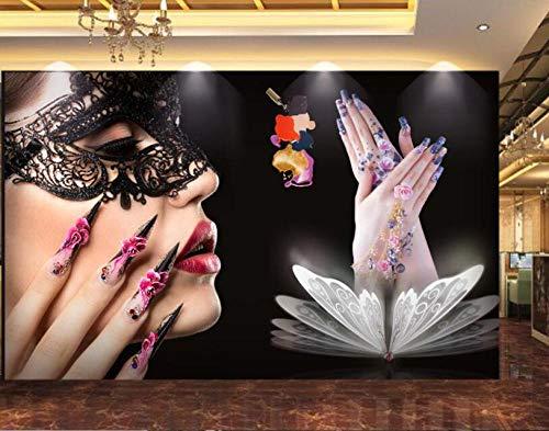 Wallpaper Mural Schoonheidssalons nagelgereedschap achtergrond muur 3D wallpaper wgop 200 x 140 cm.
