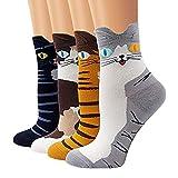 Bakicey Calcetines de Algodón de Mujers Calcetines térmicos Adulto Unisex Calcetines (Gato Lindo)