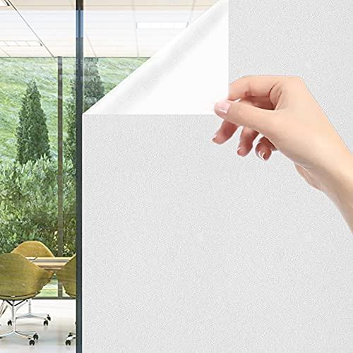 Fensterfolie selbsthaften Blickdicht,NEEMOSI Milchglasfolie Statische Sichtschutzfolie,Sichtschutz und UVchutz,Wird in Büros und Badezimmern usw verwendet.(60*200cm)