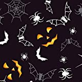 FS167 Halloween schwarz Boden Spider Web Ghost Haunted