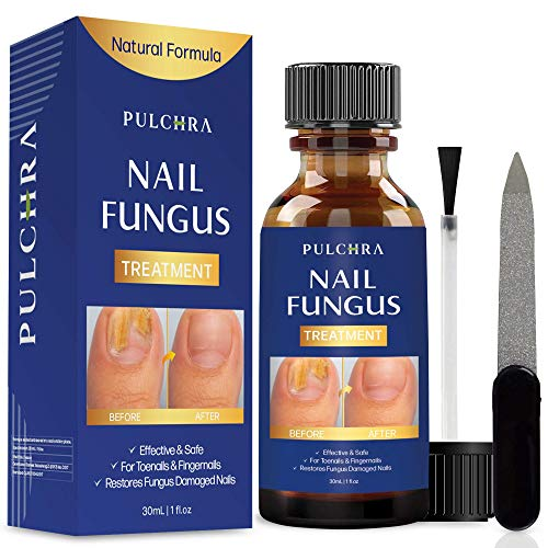Nail Fungus Treatment - Perfect for Both Toenails and Fingernails, for Healthier, Thinner and Extra Strength Nails with Natural Ingredients Formula by Pulchra (30 mL)