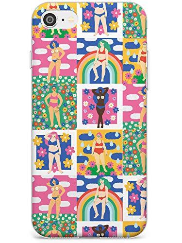 Patrón Corporal Positivo Estuche delgado para iPhone 6, for iPhone 6s   Claro Silicona TPU Protector Ligero Ultra Thin Cubrir Patrón Impreso   Positividad Mujer Muchachas Feminista Cuerpos