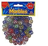 Canicas de cristal, Glasmurmeln, marmoles de cristal, vidrio modelado colorido perlas bolas de cristal para niños (Ojo de gato mármol, 40 piezas)