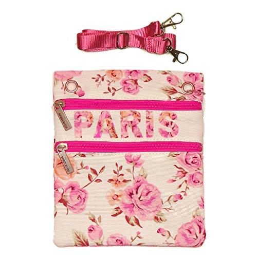 Pochette Passeport 'Paris Fleuri' Robin Ruth - Blanc