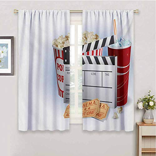 Linhomedecor Movie Theatercurtains for bedrooSoda Tickets Fresh Popcorn and...