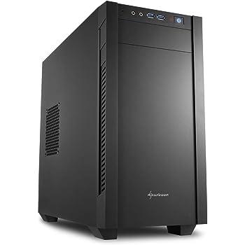 Sharkoon MicroATX対応 ミニタワーPCケース フラットサイドパネル ブラック SHA-S1000-VBK 日本正規代理店品