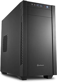 Sharkoon S1000 - Caja de Ordenador, PC Gaming, MICRO-ATX, Negro