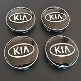 JTAccord Mittelrad-Radkappen für KIA Rio Ceed Sportage Sorento k2 k3 k4 k5 k6, Auto-Styling-Zubehör, Schwarz, 60 mm, 4 Stück/Satz