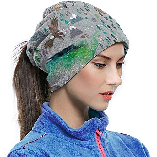 Archiba Cache-Cou Aurora Boreal Yukon Neck Gaiter Tube Oreille Warmer Headband Scarf Face Scarf Balaclava