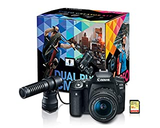 Canon DSLR Camera [EOS 90D]   Vlogging Video Creator Kit with Stereo Microphone DM-E100, 32GB SDHC Memory Card and Windscreen Accessory for Outdoor Recording (B0101S2NU0)   Amazon price tracker / tracking, Amazon price history charts, Amazon price watches, Amazon price drop alerts