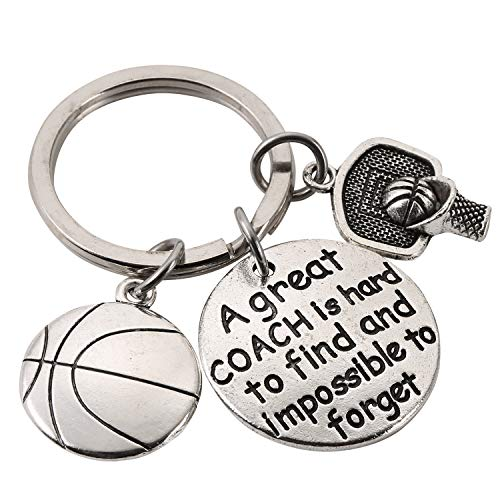 Coach Appreciation Gift Sport Coach Keychain for Men and Women - A Great Coach is Hard to Find and Impossible to Forget