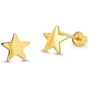 8MM Long x 5MM Wide 14k Yellow Gold Childrens Unicorn Post Earrings