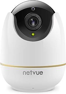 Netvue Cámaras Vigilancia WiFi Interior, Full HD 1080P Cámaras WiFi con Detección de Humano Movimiento, Zoom 8X, Visión No...
