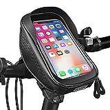JESWO Handy Fahrradtasche, Wasserdicht Handytasche Fahrrad Lenkertasche mit TPU-Touchscreen Fingerabdrucksensor und Kopfhörerloch,...
