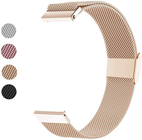Mediatech - Correa para reloj Galaxy Watch (46 mm, 22 mm, acero inoxidable, compatible con Samsung Galaxy Watch), color negro