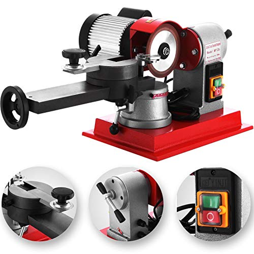 Mophorn Circular Saw Blade Sharpener Rotary Angle Mill Grinding Sharpening Machine 125mm 370w Saw Blade Sharpener Machine for Carbide Tipped Saw Blade