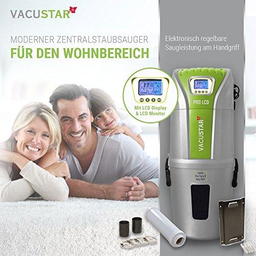 Zentralstaubsauger/Einbaustaubsauger/Staubsaugeranlage Vacustar PRO-LCD 643