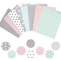 LASPERAL 8PCS Tela de algodón Serie Manual DIY Paño Pequeño Grupo de paños de Flores para Juego de paños Tela para el hogar